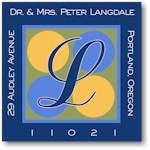 Name Doodles - Square Address Labels/Stickers (Glenwood Blue)